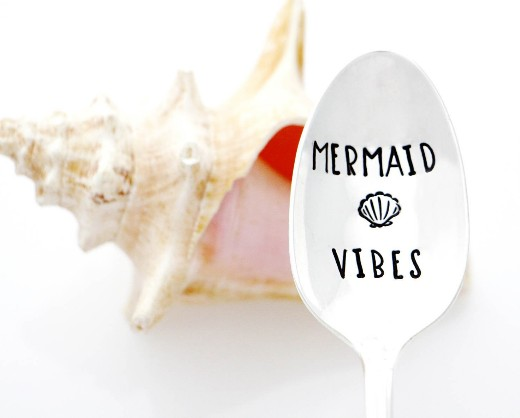 Stamped Mermaid Quote Spoon