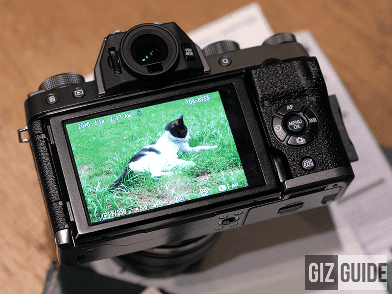 The X-T20's viewfinder