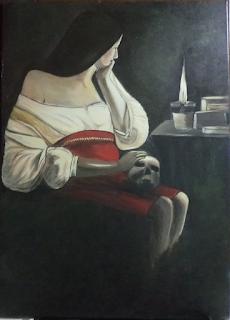 Η Μαγδαληνή Στο Φώς Του Καντηλιού Georges de La Tour