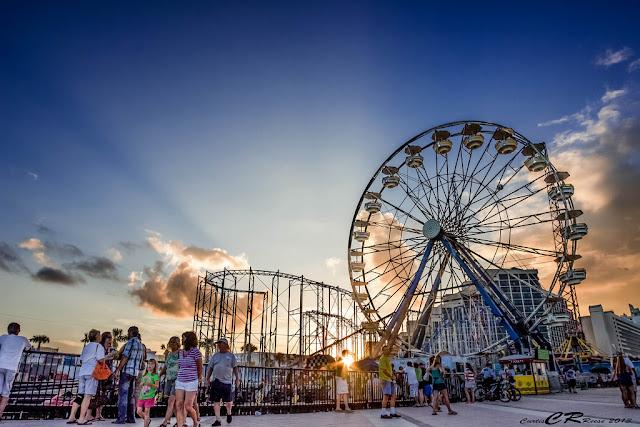 Daytona Beach Pier - roda gigante e praia