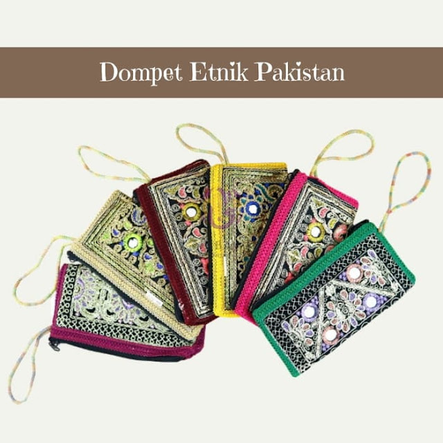Dompet Etnik Pakistan, souvenir haji dan umroh, oleh oleh haji dan umroh, perlengkapan haji dan umroh.