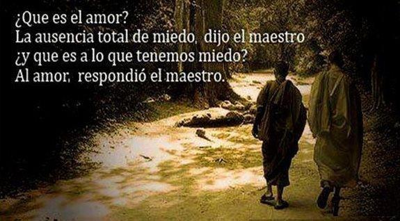 Frases Que Es El Amor La Ausencia Total De Miedo Dijo El