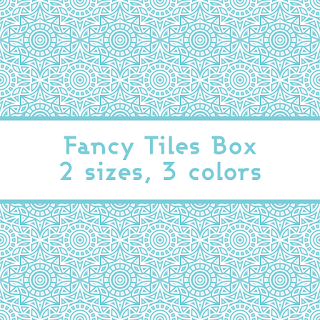 Fancy Tiles Printable Gift Boxes