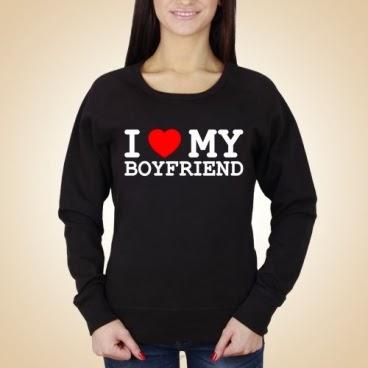 I love my boyfriend bluza czarna