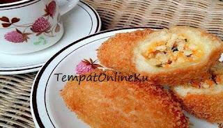 roti goreng isi daging ayam lezat praktis