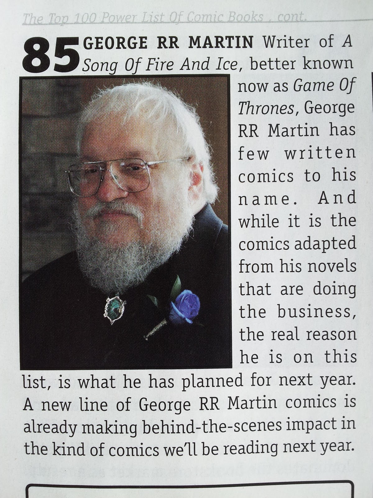 George Rr Martin Libros Game Of Thrones All Things Valiant Bleeding Cool Magazine Top 100 Most