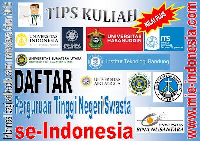 tips kuliah di perguruan tinggi negeri dan swasta di Indonesia