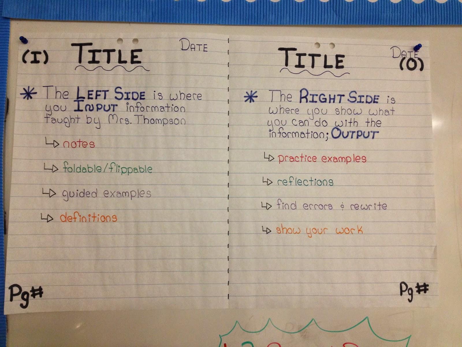 Miss L S Whole Brain Teaching Interactive Notebooks I N