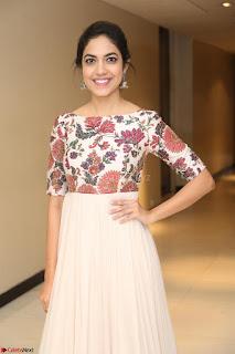 Ritu Varma smiling face Cream Anarkali dress at launch of OPPO New Selfie Camera F3 ~  Exclusive 088.JPG