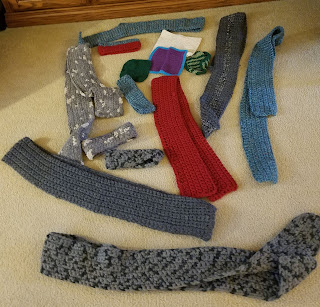 Crocheted Scarves, Cotton Washcloths and Headbands