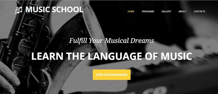 Plantilla Adaptativa para Sitio de Escuela de Música