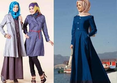 Model Baju Muslim Katun Polos