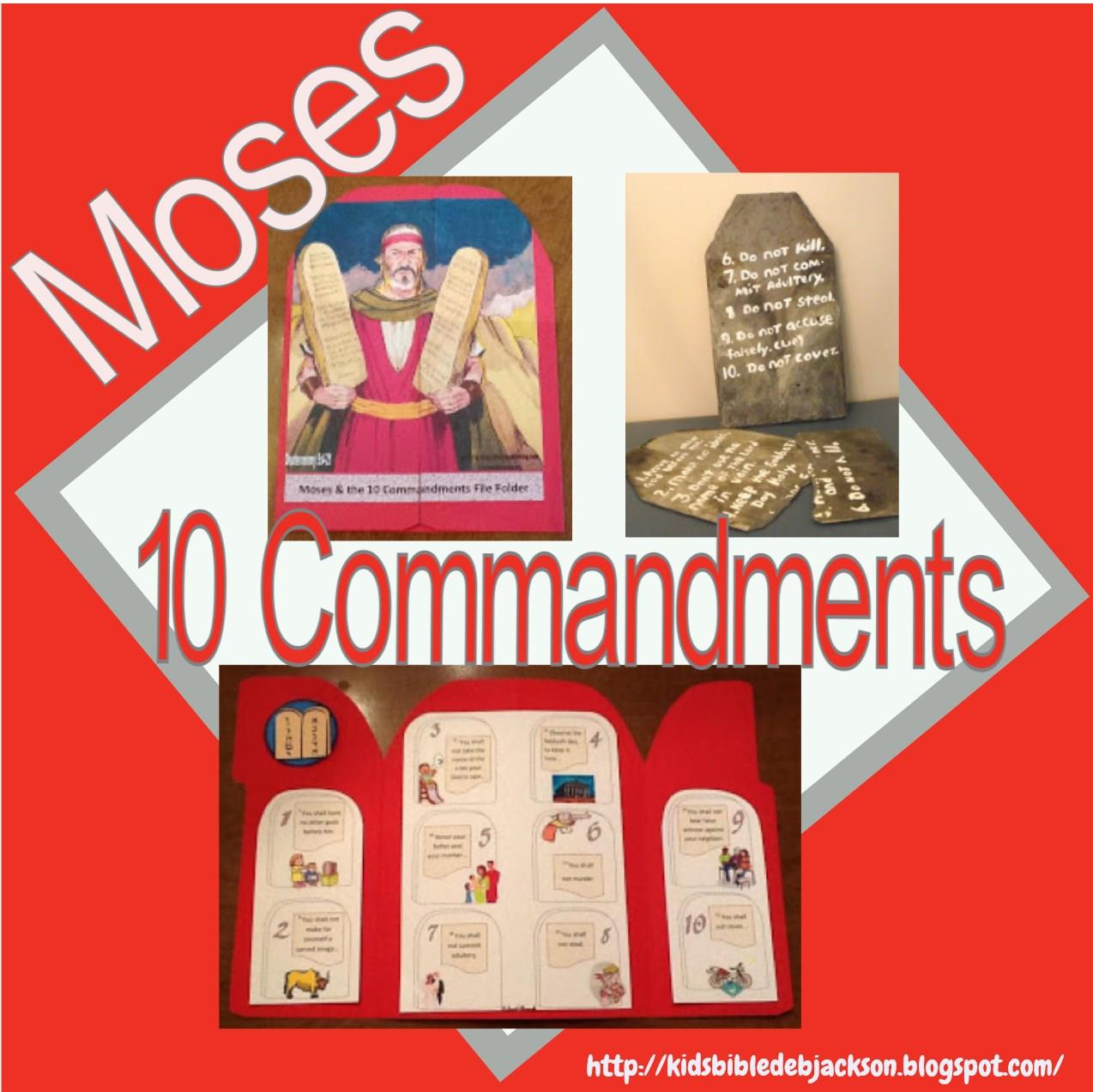 Bible Fun For Kids Moses And The 10 Commandments