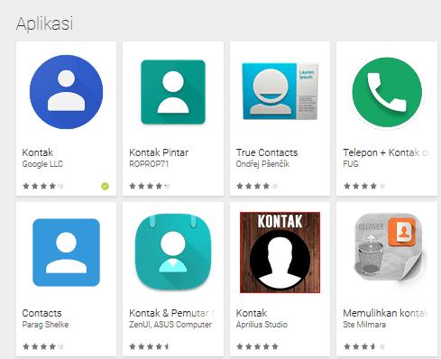 aplikasi kontak