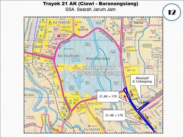 Rute Angkot Ciawi-Baranangsiang