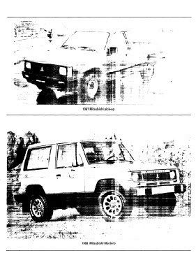 repair-manuals: Mitsubishi Montero 1988 Repair Manual