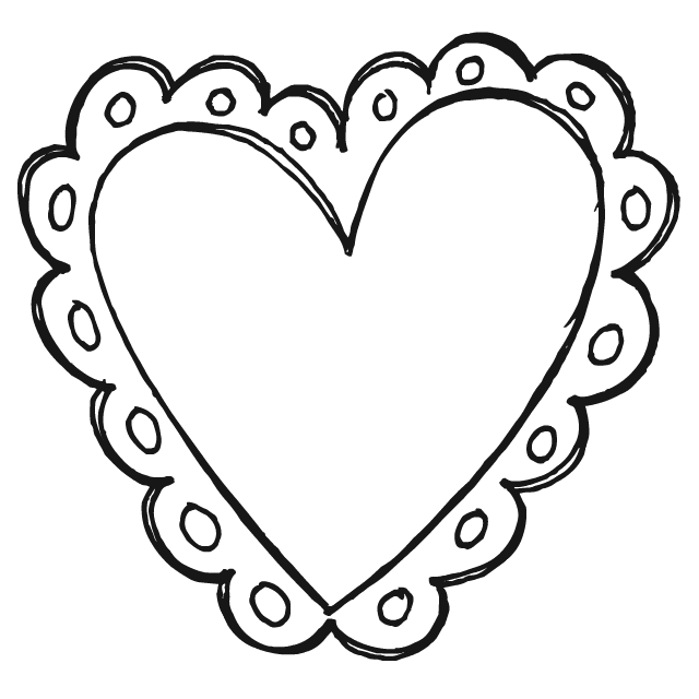v is for valentine coloring pages - photo #20