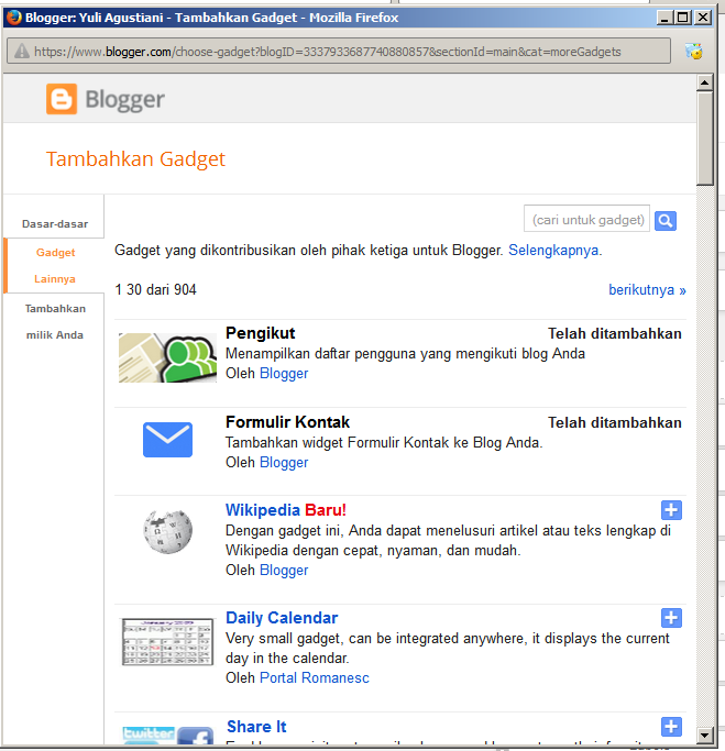 Memasang widget join this site itu penting