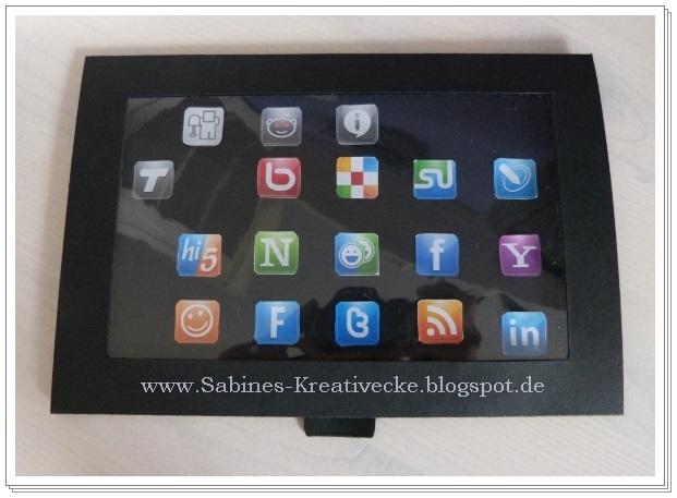 Sabines Kreativecke Tablet Pc Aus Papier