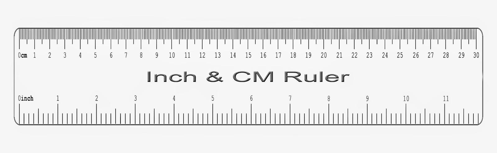 Ruler Centimeter Real Size