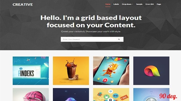 Creative Dark Blogger template