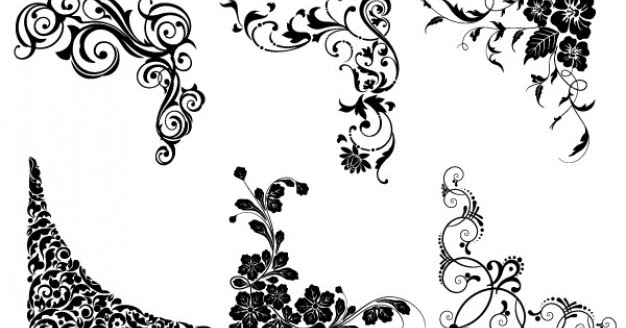 Cosas D+: Vector Floral Esquinas