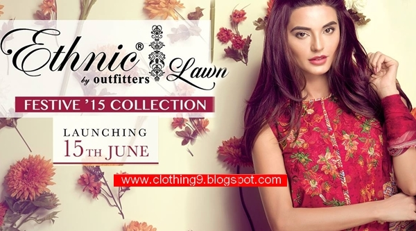 Outfitters ethnic eid collection Lawn Festive 2015-16