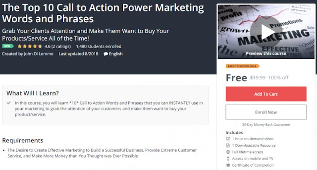 [100% Off] The Top 10 Call to Action Power Marketing Words and Phrases| Worth 19,99$
