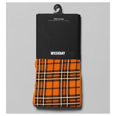 Weekday orange plaid tights