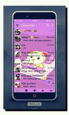 BBM MOD Dorami Paralax Versi 3.0.1.25 APK Terbaru
