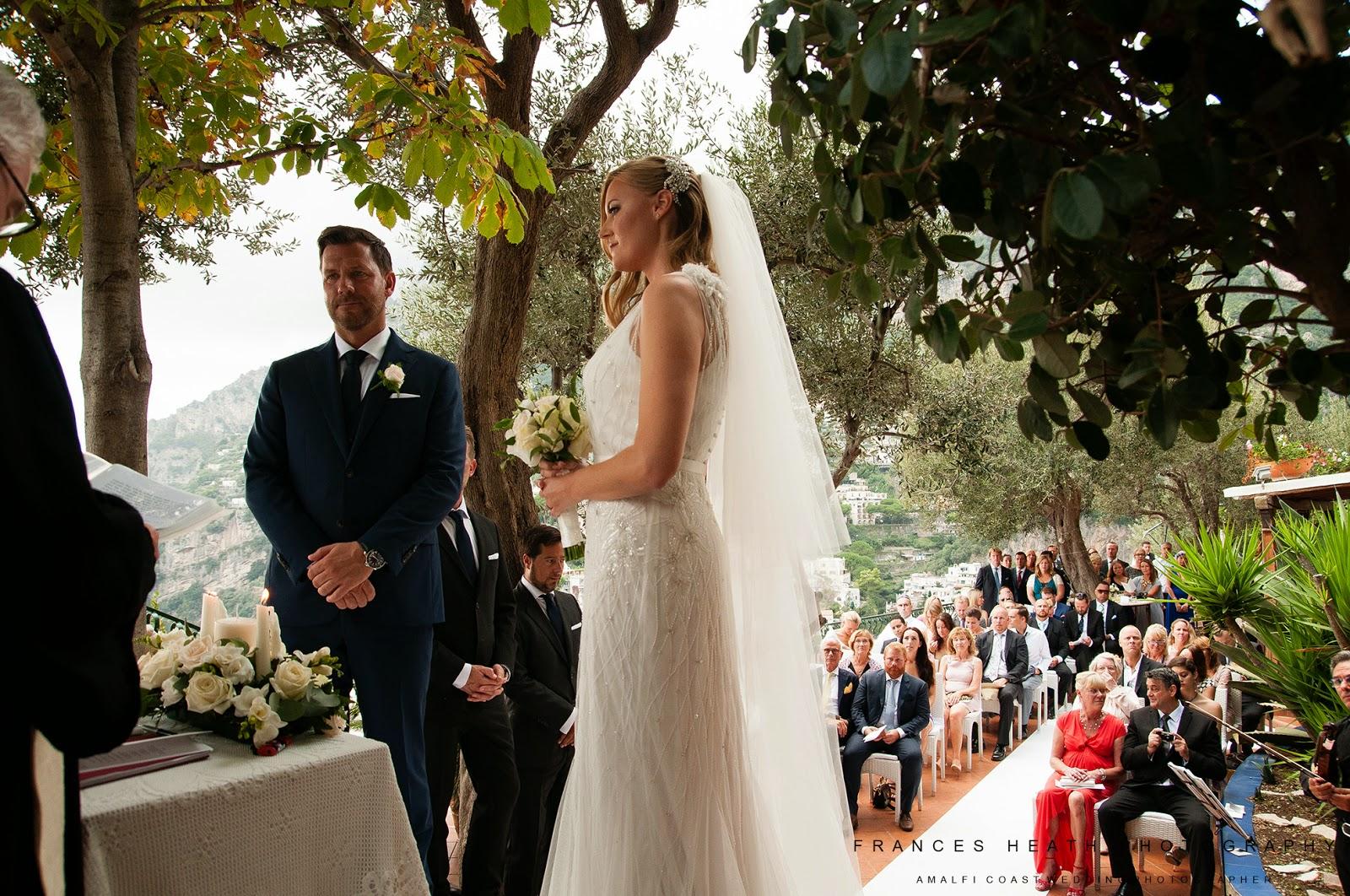 Bride and groom celebrating their wedding at Villa Oliviero