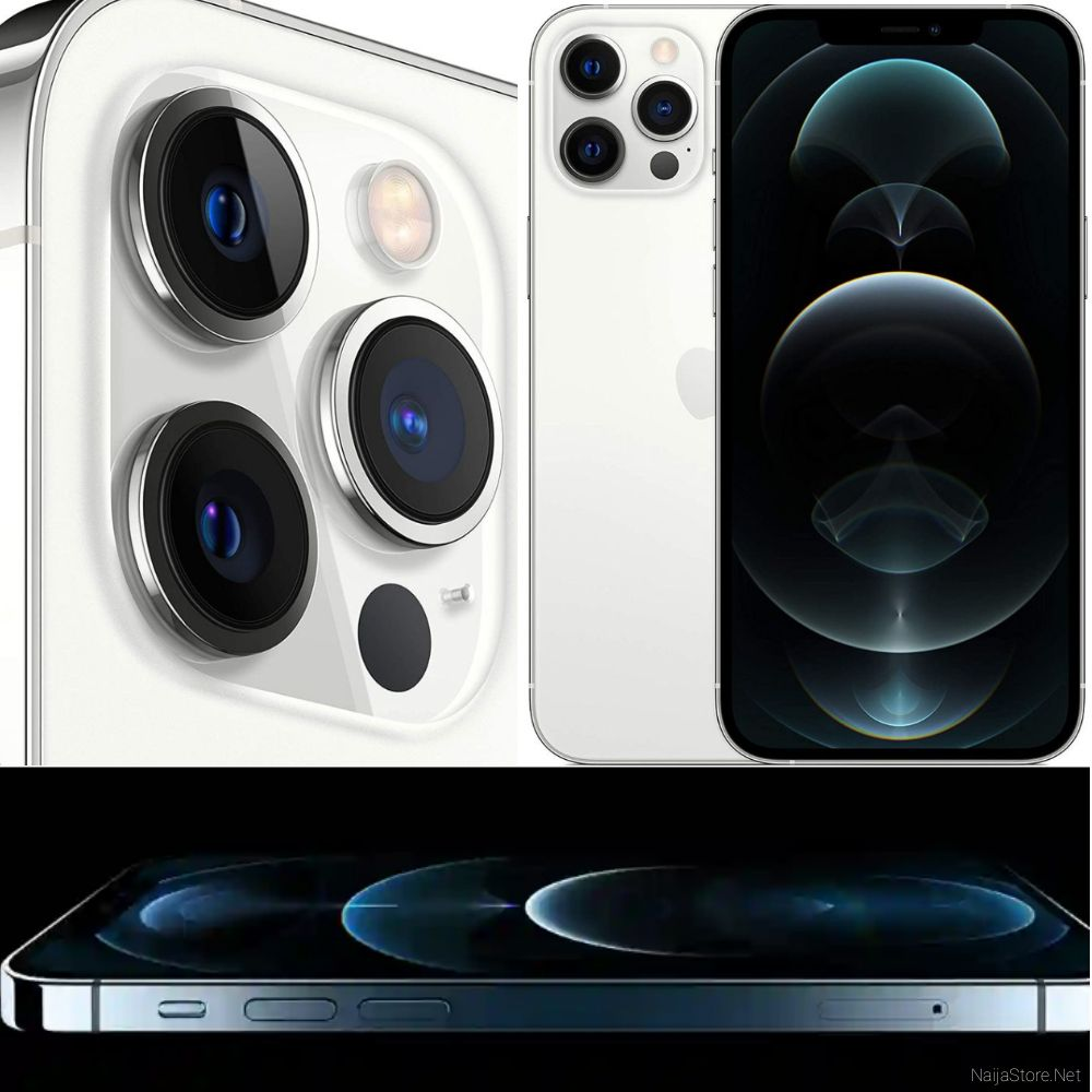 Apple IPhone 12 Pro Max 5G Smartphone - Specs: iOS 14, 128GB/6GB Memory, A14 Bionic Chip, 6.7-Inch, 4Cams, Wireless Turbo Charging..