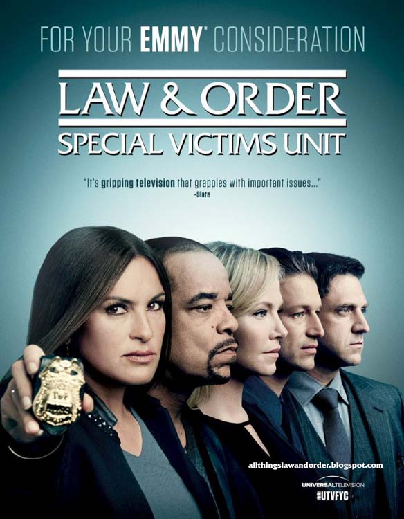 """All Things Law And Order: Law & Order SVU """"For Your Emmy ...  All Things Law ..."""
