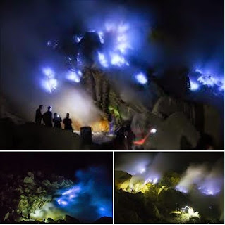 api biru blue fire kawah ijen