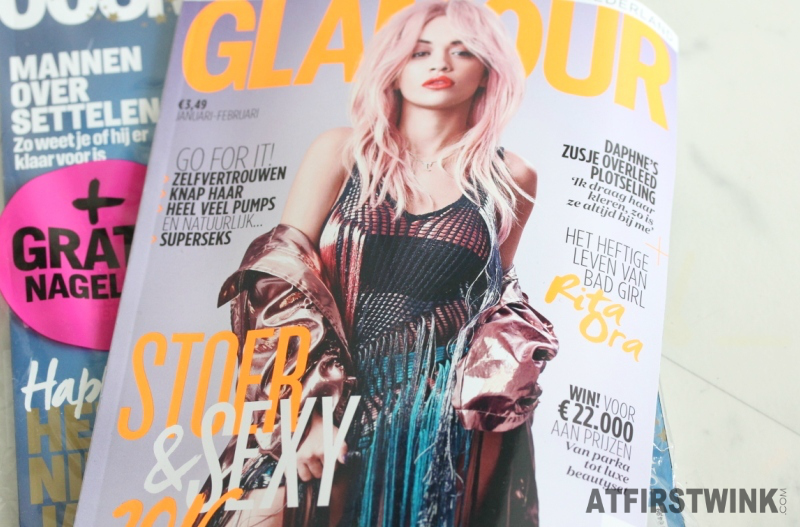 Glamour and Cosmopolitan magazine Netherlands January 2016 issues