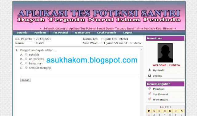 Download Aplikasi Ujian Online Berbasis Web (Saol Pilihan Ganda + Essay)