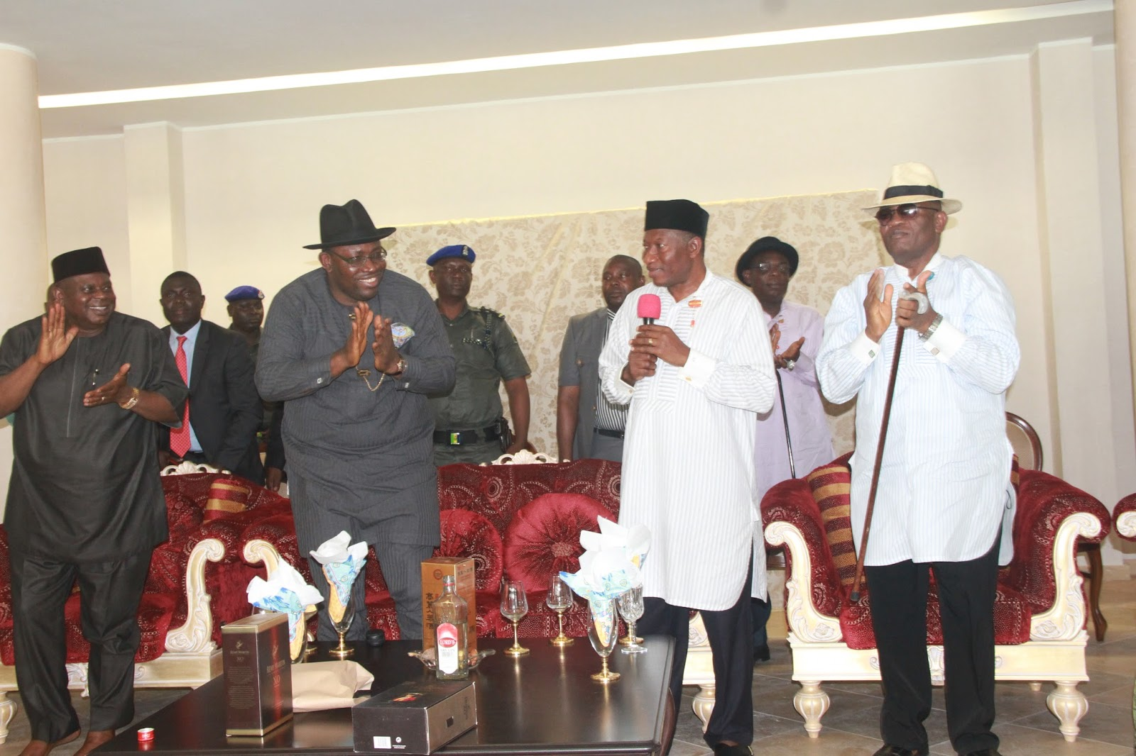Image result for Jonathan, Dickson preach political tolerance