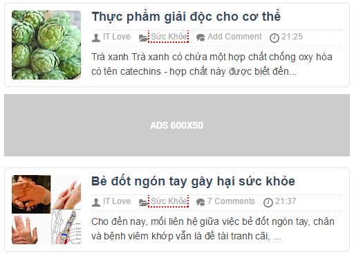 Thêm quảng cáo vào dưới bài viết đầu tiên trong blogspot
