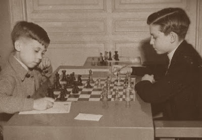 Torneo Infantil Barcelona 1949, partida de ajedrez Anguera - Salas