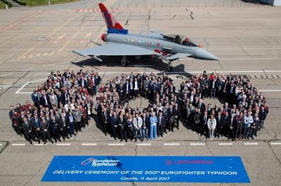 Eurofighter Typhoon II de numero 500 é entregue a Itália