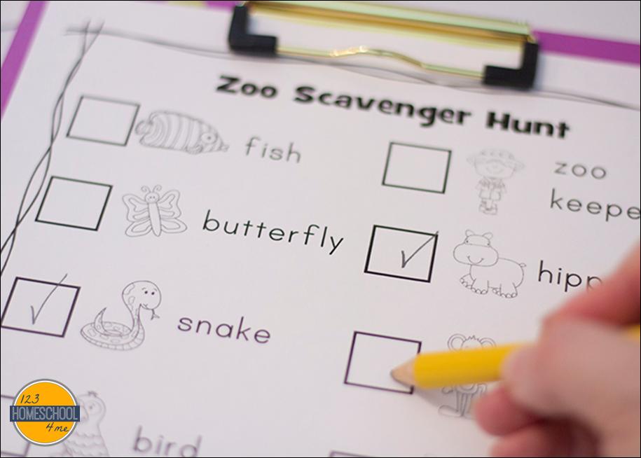NEW 46 ZOO SCAVENGER HUNT WORKSHEETS | zoo worksheet