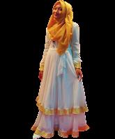 Dress Putih Gold 7b-003