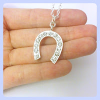 Bridal Jewellery - Diamante Horseshoe Pendant