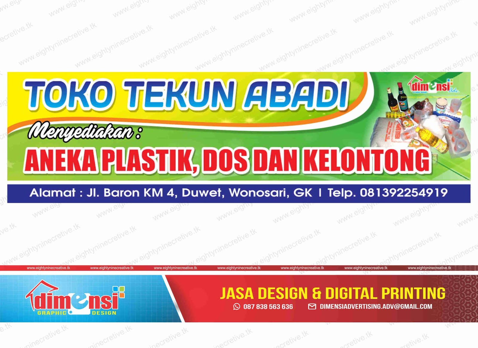 Download Spanduk Toko Kelontong Vector CDR - DIMENSI ...