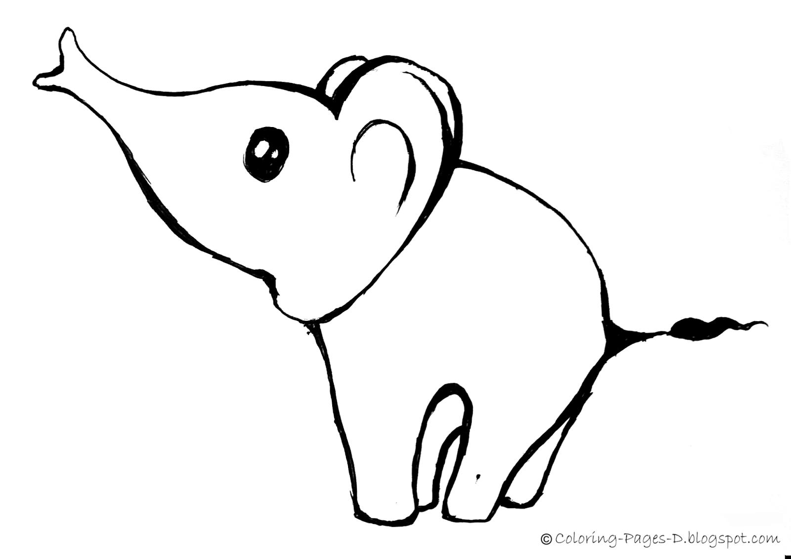 Easy Cute Elephant Drawing