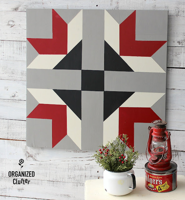 An Up-cycled Garage Sale Barn Quilt #frogtape #easybarnquilt #upcycle