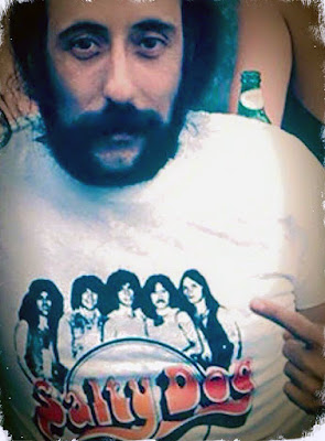 "Peppi Marchello of the ""Good Rats"" wearing a ""Salty Dog"" t-shirt. How fuckin' cool is this pic!!"