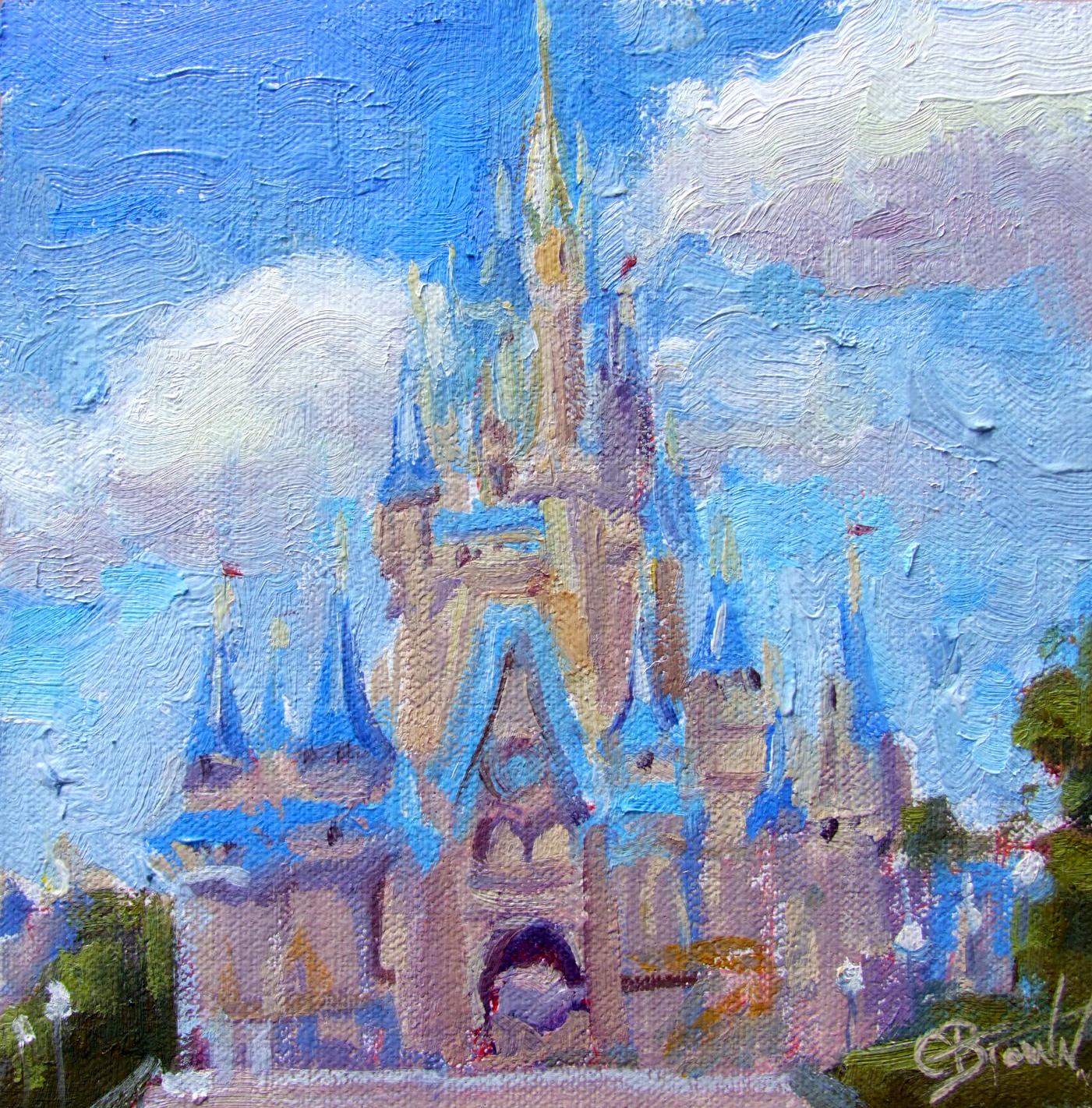 Cinderellas Castle Painting | www.imgkid.com - The Image ...