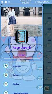 BBM Doraemon Transparan V3 gratis