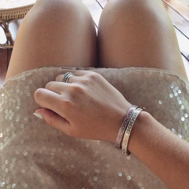 Halcyon Days stackable enamel bangles - luxury British jewellery - hand-decorated bracelets